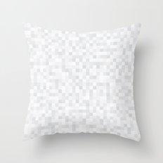 White Cubism Throw Pillow