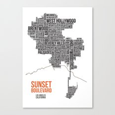 Sunset Boulevard Canvas Print