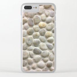 Stones, Fashion Textures Clear iPhone Case