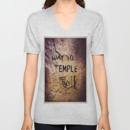 Way to Temple, 2015 Unisex V-Neck