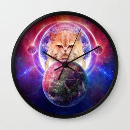King Cat Galaxy Wall Clock