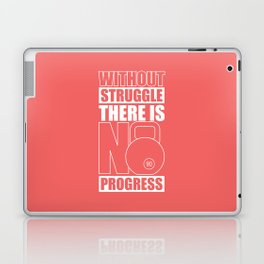 Lab No. 4 - Without Struggle There Is No Progress Gym Inspirational Quotes Poster Laptop & iPad Skin