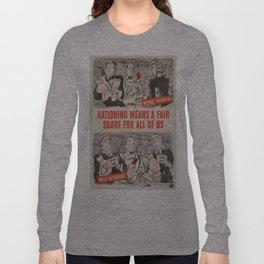 Vintage poster - Rationing Long Sleeve T-shirt