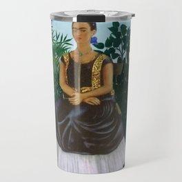 Frida's Garden, Frida Kahlo's Casa Azul, Coyoacán, Mexico rainforest floral landscape painting Travel Mug