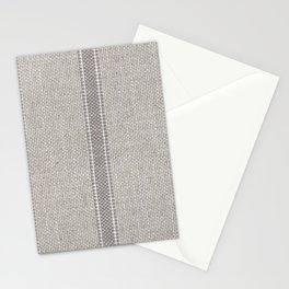 Vintage farmhouse Grain sack Stripes linen Stationery Cards