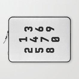 Typography Numbers #2 Laptop Sleeve