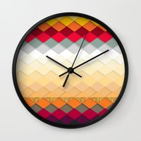 fireworks Wall Clocks featuring Fireworks by Kakel