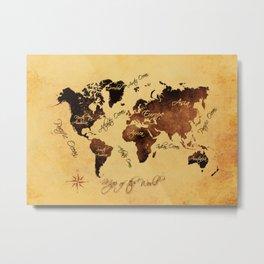 world map 75 Metal Print