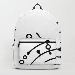 Abstract digital lines Backpack