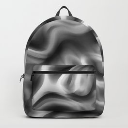 Retro 70's Blurred Abstract Pattern Greyscale Backpack