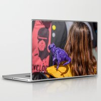 quentin tarantino Laptop & iPad Skins featuring Kitty Pryde and Lockheed of the X-Men tries to discipline Quentin by Hoboxia