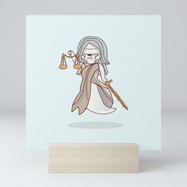 Ghostly Lady Justice Mini Art Print