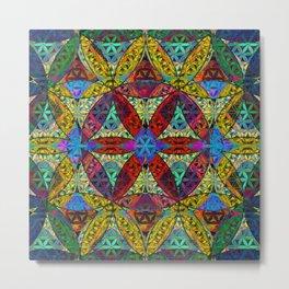 The Flower of Life (Sacred Geometry) Metal Print