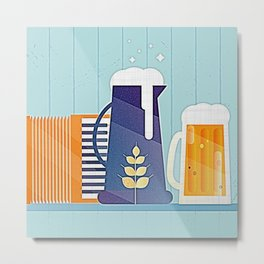 German Beer Festival Modernist V2 Metal Print