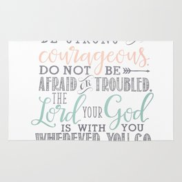 Joshua 1:9 Bible Verse Rug