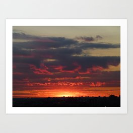 Sunset/Cityscape 1 Art Print