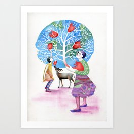 Welcome to Wonderland Art Print