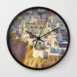 Albufeira citadel houses Wall Clock