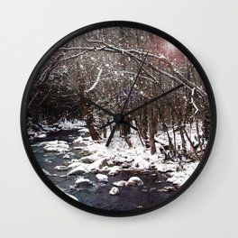 Winter Creek Wall Clock