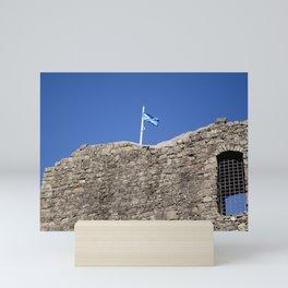 Flag Upon The Castle Mini Art Print