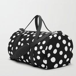 Black and white doodle dots Duffle Bag