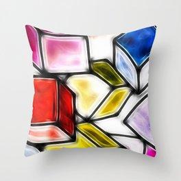 Fractalius cubes Throw Pillow