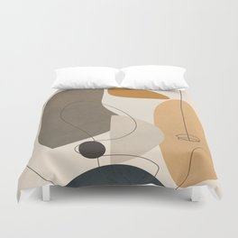 Abstract Minimal Shapes 26 Duvet Cover