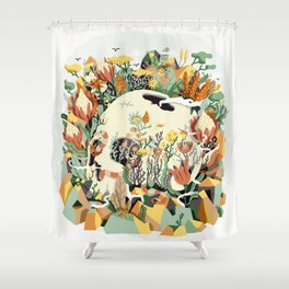 Skull & Fynbos Shower Curtain