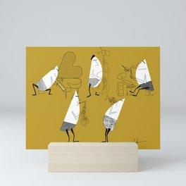 The TeeGees - The Quintet Mini Art Print