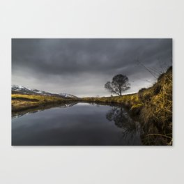 Clouds Roll over the Spey Canvas Print
