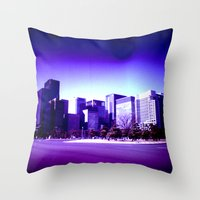 tokyo Throw Pillows featuring TOKYO by very giorgious