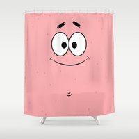 patrick Shower Curtains featuring Patrick by JayPii
