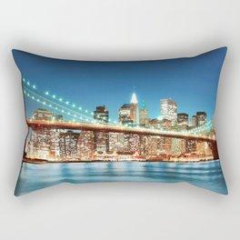 Amazing Historic Brooklyn Bridge Manhattan New York City United States Ultra HD Rectangular Pillow
