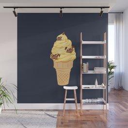Ice Cream Cone Pugs Wall Mural