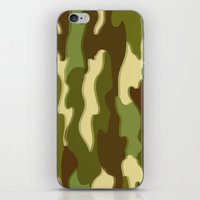 camo iPhone & iPod Skins featuring CAMO by Bruce Stanfield