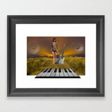 Sands of Music Framed Art Print