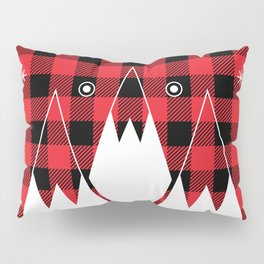 Red Buffalo Plaid Mountains Pillow Sham