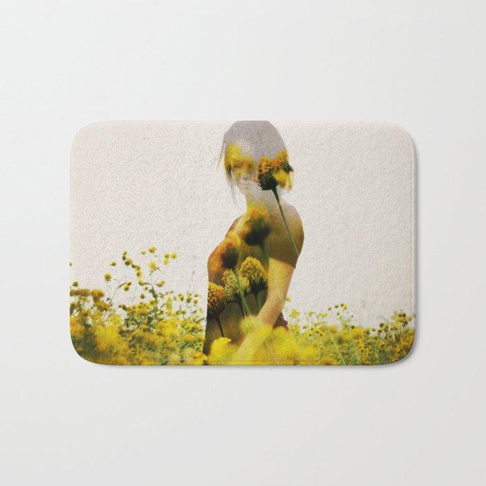 Yellow Meadow Bath Mat