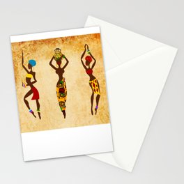 Dancing african women  Stationery Cards