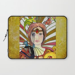 La jeune fille au paon (the peacock maiden) Laptop Sleeve