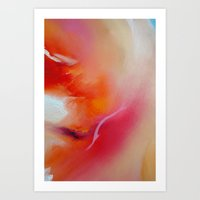 gore Art Prints featuring orange gore by siangr