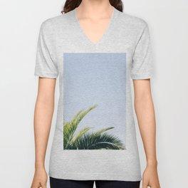 Green Palm Tree Unisex V-Neck