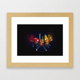 Food Fight Framed Art Print