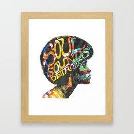 Soul Sounds Detroit Framed Art Print