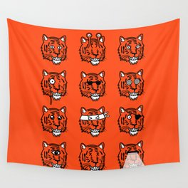 Eyes Of The Tiger Wall Tapestry