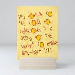 Sing Joyfully! Mini Art Print