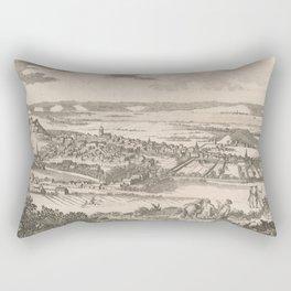 Vintage Pictorial Map of Edinburgh Scotland (1760) Rectangular Pillow