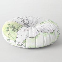 Empire of Mushrooms: Lycoperdon perlatum Floor Pillow