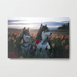 Floral Brothers Metal Print