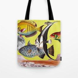 Fish World yellow Tote Bag